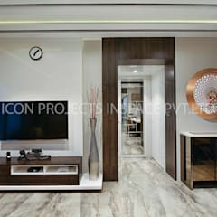 2BHK Residence: modern Living room by icon projects inspace pvt ltd
