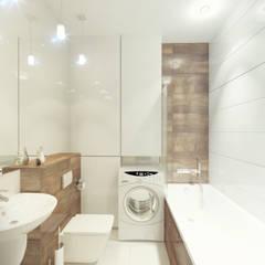 łazienka z zabudową na wymiar: styl , w kategorii Łazienka zaprojektowany przez AMI INTERIOR Projektowanie Wnętrz