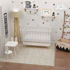 Visual Área Cuna: Dormitorios infantiles de estilo  por JACH