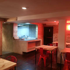 Avance de obra #SotanoSiete: Restaurantes de estilo  por MARATEA Estudio