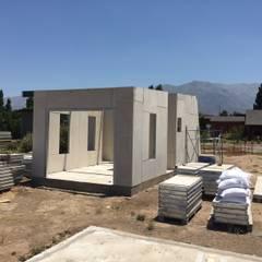 VISTA CORTE PANEL: Casas prefabricadas de estilo  por ALLEGRE ARQUITECTOS