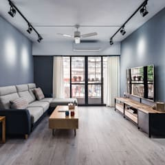 Living room by 築室室內設計, Minimalist