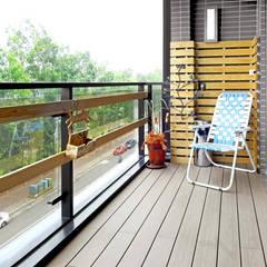 Terrasse de style  par 築室室內設計