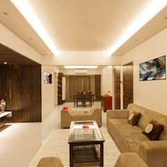 3 BHK at Borivali:  Living room by A Design Studio