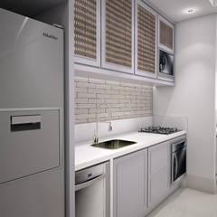 Interiores 108: Armários e bancadas de cozinha  por Laís Galvez Arquitetura e Interiores