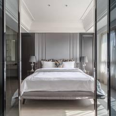 現代奢華卻不失溫度!滿足對家的想像:  臥室 by E&C創意設計有限公司