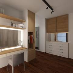 R's Apartment: Ruang Ganti oleh Noff Design, Modern Kayu Lapis