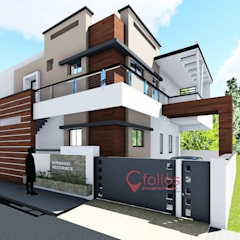 Kothari Residence, Bagalkot:  Single family home by Cfolios Design And Construction Solutions Pvt Ltd