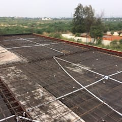 Reinforcement for first floor Slab:  Single family home by Cfolios Design And Construction Solutions Pvt Ltd