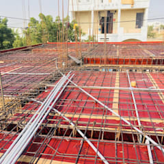 First Floor Slab Shuttering & Reinforcement:  Multi-Family house by Cfolios Design And Construction Solutions Pvt Ltd