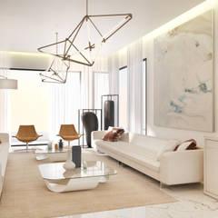 اتاق نشیمن توسطDessiner Interior Architectural, مدرن