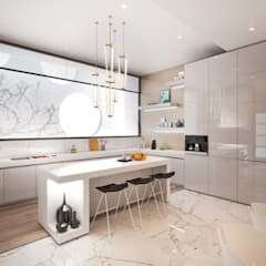Modern Contemporary Southern African Residence :  Kitchen by Dessiner Interior Architectural