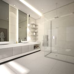 Modern Contemporary Southern African Residence :  Bathroom by Dessiner Interior Architectural,