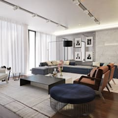 Contemporary Pretoria Residence :  Kitchen by Dessiner Interior Architectural,