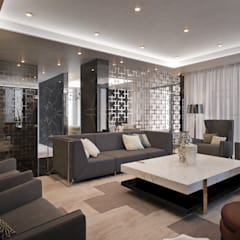 Contemporary Pretoria Residence :  Media room by Dessiner Interior Architectural,