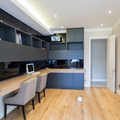 Houghton Residence - Modern Interior Design:  Study/office by Dessiner Interior Architectural
