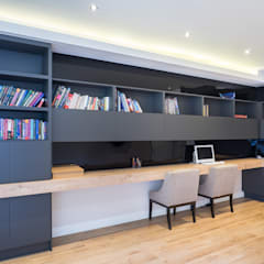 The Modern Houghton Residence :  Study/office by Dessiner Interior Architectural,