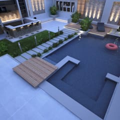 :  Garden Pool by TK Designs, Modern Ceramic