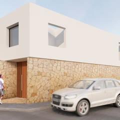 FACHADA PRINCIPAL: Casas unifamiliares de estilo  por EMERGENTE | Arquitectura