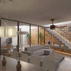 SALA VISTA 1: Salas de estilo ecléctico por EMERGENTE | Arquitectura
