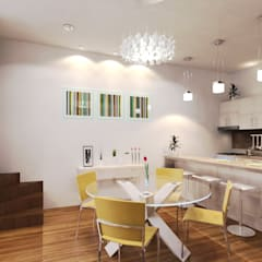 COCINA/COMEDOR : Salas de estilo ecléctico por EMERGENTE | Arquitectura
