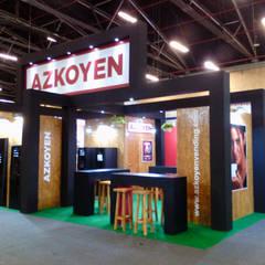 Diseño de Stands comerciales: Centros de exhibiciones de estilo  por Lúdico Arquitectos
