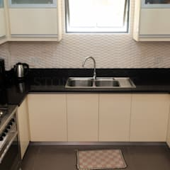 Black Sapphire Quartz Kitchen Countertop at Robinsons Highlands:  Kitchen by Stone Depot,