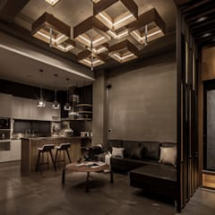 Living room by 漢玥室內設計, Modern Concrete