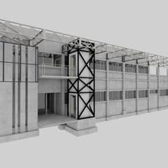Edificio Geología Universidad de Atacama: Escaleras de estilo  por SINTESIS arquitecto & asociados