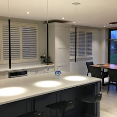 One of our Largest Residential Projects Ever!:  Built-in kitchens by Plantation Shutters Ltd