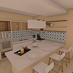 Cozinha: Cozinhas tropicais por Studio Barreto Fernandes