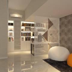 PRIVATE RESIDENTIAL @ NAVAPARK, BSD CITY, TANGERANG: Ruang Kerja oleh PT. Dekorasi Hunian Indonesia (DHI),