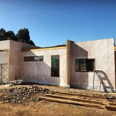 Proceso diseño y construcción Vivienda Premium 115m2 Fundo Loreto: Casas unifamiliares de estilo  por Territorio Arquitectura y Construccion - La Serena