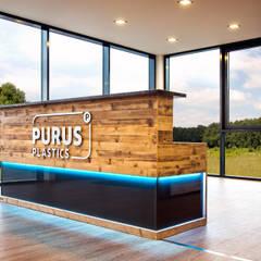 Geschäftsausstattung PURUS PLASTICS GmbH:  Bürogebäude von edictum - UNIKAT MOBILIAR