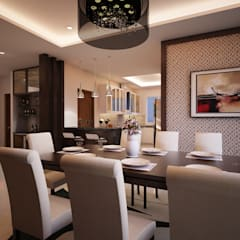 Mr. & Mrs. P Residence:  Dining room by TWINE Interior Design Studio