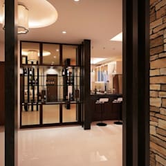 Mr. & Mrs. P Residence:  Corridor and hallway by TWINE Interior Design Studio,