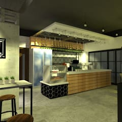 Coffee & Drinkery:  Commercial Spaces by TWINE Interior Design Studio, Modern