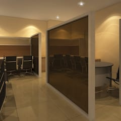 Avatar Technologies:  Corridor and hallway by TWINE Interior Design Studio