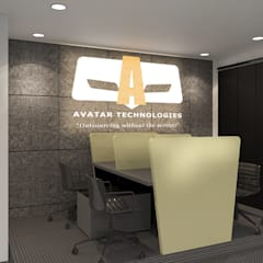 Avatar Technologies: minimalistic Study/office by TWINE Interior Design Studio