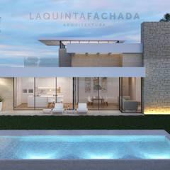 Vivienda Unifamiliar L&M   Olleria: Casas unifamilares de estilo  de L5F Arquitectura e Ingeniería   La Quinta Fachada