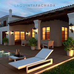 Fachada _ 01: Villas de estilo  de L5F Arquitectura e Ingeniería   La Quinta Fachada