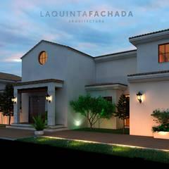 Fachada _ 02: Villas de estilo  de L5F Arquitectura e Ingeniería   La Quinta Fachada