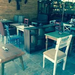 Nida İçMimarlık – MotoGarage Cafe:  tarz Yeme & İçme