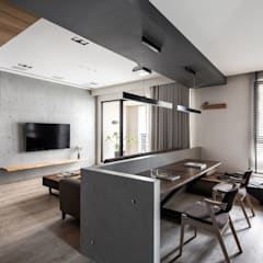 Study/office by 極簡室內設計 Simple Design Studio,