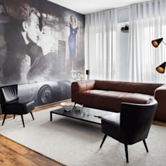 Industrial style media room by homify Industrial