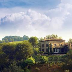 LA SEGRETA, ein exklusives Farmhaus, Umbria: landhausstil Garten von Mosaic del Sur