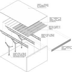 رووف تنفيذ Van Herck-Arquitectos, حداثي خشب Wood effect