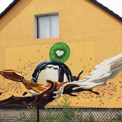Fassadenmalerei Potsdam:  Bars & Clubs von Graffiti Künstler Bill Knospi