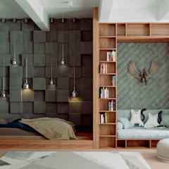 Tribeca apartments: Детские спальни в . Автор – Александра Геродотова