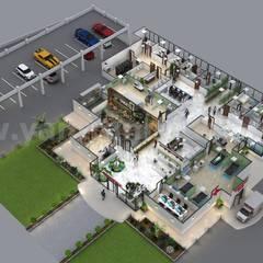 Creative Hospital 3d Floor Plan Design Ideas by Yantram 3d floor design Bern:  Hospitals by Yantram Architectural Design Studio